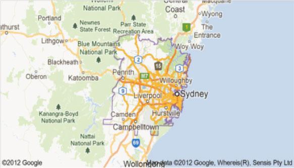 google-map-sydney